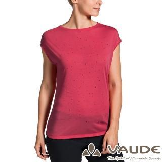 【VAUDE】女款抗臭透氣快乾圓領短袖T恤(VA-40962桃紅/登山/戶外/旅遊/休閒日常/運動)