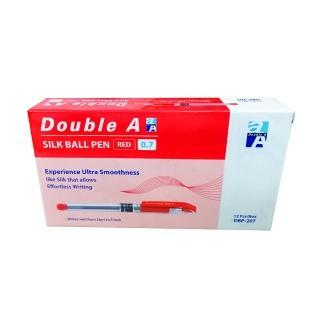 【Double A】筆蓋式極順原子筆-紅色(12支/盒)