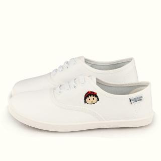【童鞋城堡】櫻桃小丸子 X KITTY聯名 女款 簡約設計休閒鞋(HK8703-白)