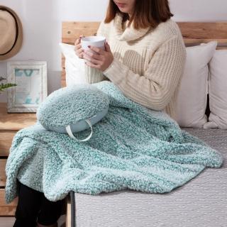 【生活工場】和煦舒絨蓋毯靠枕2件組