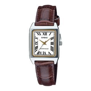 【CASIO 卡西歐】指針女錶 皮革錶帶 礦物玻璃 生活防水(LTP-V007L-7B2)