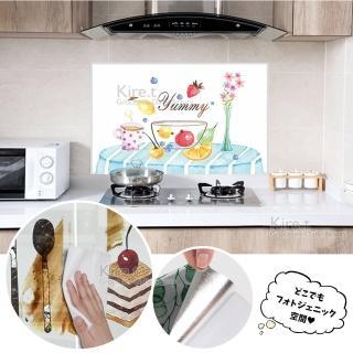 【kiret】廚房流理台耐高溫防水防油自黏式牆貼 壁貼壁紙磁磚家具-美味關係90X60(壁貼 牆貼)