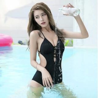 【SeasonsBikini】泳衣泳裝性感綁帶美背連身泳衣bikini -574(泳衣泳裝性感綁帶美背連身泳衣)
