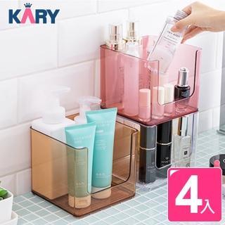 【KARY】日式高質感乾濕兩用可疊加收納盒(超值4入組)