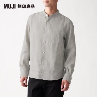 【MUJI 無印良品】男法國亞麻水洗立領襯衫(共10色)