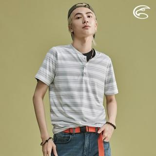 【ADISI】男短袖COOLMAX沁涼條紋休閒T AL2011051 / M-2XL(涼感、透氣、輕量、吸濕排汗)