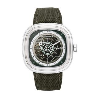 【SEVENFRIDAY】經典軍事風格自動機械腕錶45MM(型號T2/01)