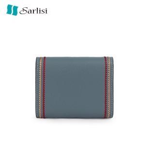 【Sarlisi】新款女式風琴卡包真皮證件包車縫線多卡位卡夾大容量名片包