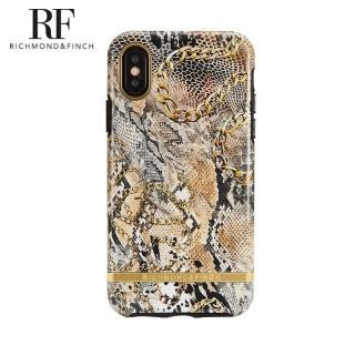 【Richmond&Finch】RF瑞典手機殼 金線框 -蛇紋鍊條(iPhone X/Xs 5.8吋)