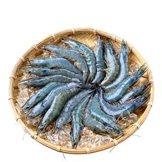 【鮮綠生活】無毒野放活凍超大白蝦(600g