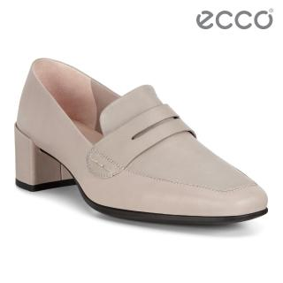 【ecco】SHAPE 35 SQUARED 現代尖頭優雅方跟高跟鞋 女鞋(灰粉色 29051301386)