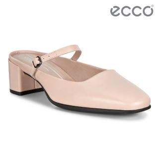 【ecco】SHAPE 35 SQUARED 復古瑪莉珍方跟涼鞋 女鞋(玫瑰粉 29052301118)
