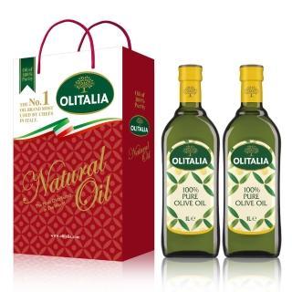 【Olitalia 奧利塔】超值純橄欖油禮盒組(1000mlx6瓶)