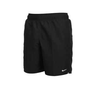 【NIKE 耐吉】SWIM 男七吋海灘短褲-海邊 慢跑 路跑 戲水 黑白(NESSA559-001)
