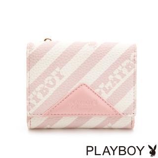 【PLAYBOY】名片夾附零錢袋 粉潮流系列(粉色)