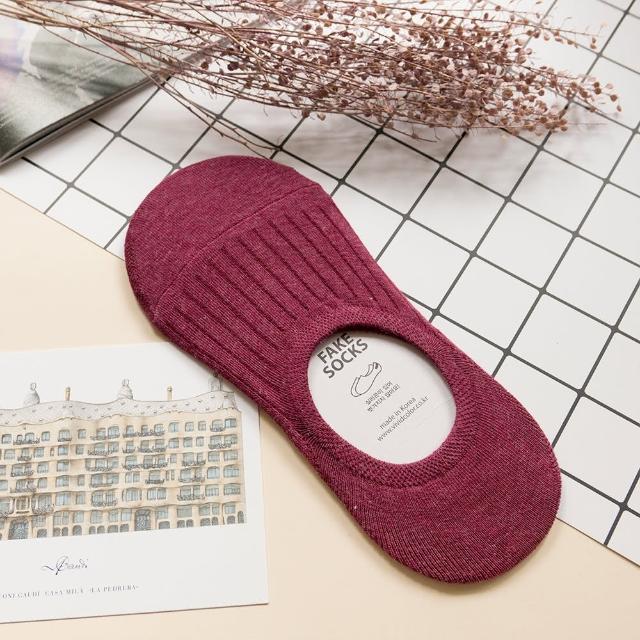 【AHUA 阿華有事嗎】韓國襪子 簡約純色條紋隱形襪 K0320(品質保證 韓國少女襪 韓妞必備)