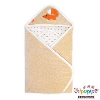 【hipopipo 小西波】有機棉皇冠雙面厚包毯/厚包巾(加厚款)