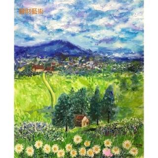 【豐財藝術】Beautiful Homes 美麗家園 能量真跡油畫(印象派油畫藝術收藏首選)