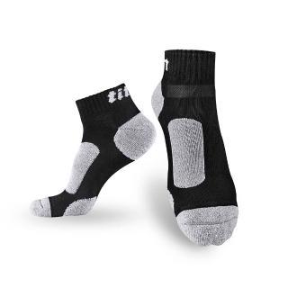 【Titan】太肯功能慢跑訓練襪_黑竹炭(純棉)