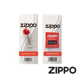 【Zippo】ZIPPO打火機專用打火石和棉蕊-紙卡裝各一個組