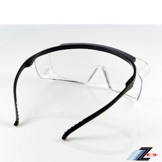 【Z-POLS】防霧升級款M28 全方位防護輕量設計透明抗UV400防塵防飛沫護目眼鏡(可直接配戴也可包覆度數眼鏡)
