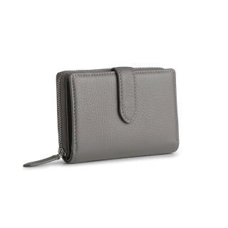 【MARKBERG】Ellis 丹麥手工牛皮艾利斯側翻雙層短夾 錢包(萊石灰)