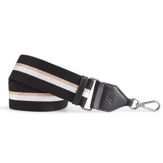 【MARKBERG】Finley 丹麥手工時尚編織寬版肩揹帶(瑰銀黑)