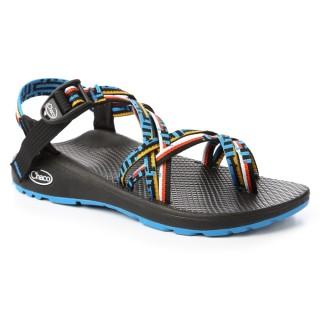 【CHACO】女 越野舒壓運動涼鞋-雙織夾腳款CH-ZLW04HG15(藝術藍鵲)