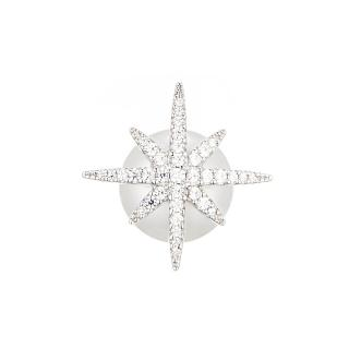 【apm MONACO】銀色925銀/鋯石流星珍珠耳釘(單只)