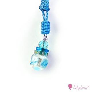 【Shylina 萱琳娜】EC 天空藍親膚香氛鍊-親膚純棉繩(琉璃瓶 隨身吸戴 身心紓壓的顏色)