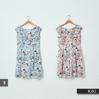 【KiKi】日韓春夏質感造型-洋裝(多款選/直條A款/碎花B款/丹寧C款/蕾絲D款/素色E款)