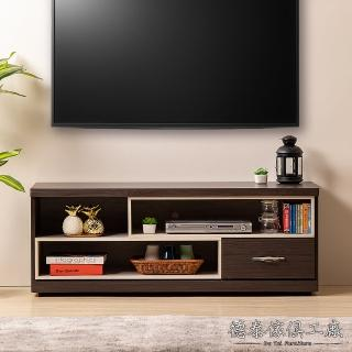 【德泰傢俱】Eisenbo灰橡木 簡約生活灰橡木 4尺電視櫃