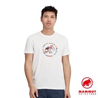 【Mammut 長毛象】Nations T-Shirt Men 世界LOGO短袖上衣 男款 純白 #1017-02220