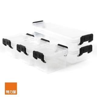 【特力屋】CITYLIFE 迷你收納盒五件組 0.52L2件+0.15L3件