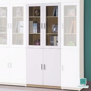 【Hampton 漢汀堡】諾姆北歐2.7尺四門書櫃(一般地區免運費/書櫃/置物櫃/展示櫃)