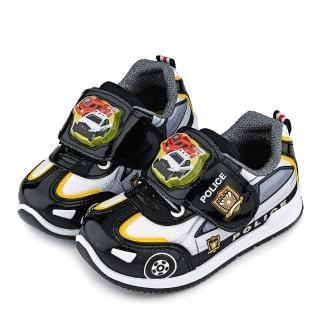 【童鞋城堡】Tomica多美小汽車 中童 警車電燈運動鞋(TM7724-黑)