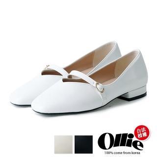 【OLLIE】韓國連線/版型偏小。日系甜美簡約素面舒適平底包鞋(72-730/現貨)