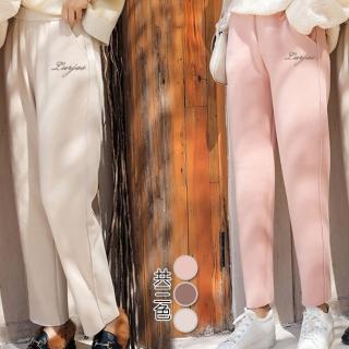 【Alice 韓系館】粉嫩櫻花時尚輕柔休閒褲(共3色)