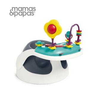 【Mamas & Papas】二合一育成椅含玩樂盤v2-岸岩藍