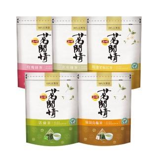 【立頓】茗閒情台灣茶包-5款任選(凍頂烏龍/活綠茶/玄米綠茶/玫瑰綠茶/東方美人)