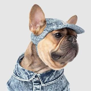 【CANADA POOCH】丹寧棒球帽-藍色(寵物帽-CANADA POOCH-Dog Cap Blue)