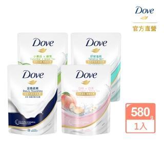 【Dove 多芬】沐浴乳補充包650G(滋養/去角質/清爽)