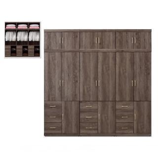 【MUNA 家居】凱爾 8 X 8 尺灰橡色衣櫥(衣櫃)