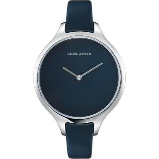 【Georg Jensen 喬治傑生】CONCAVE 北歐之夜 石英腕錶-39mm(3575579)