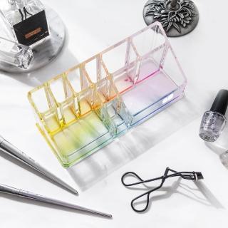 【目喜生活】虹彩壓克力桌上文具美妝收納盒(適合辦公室與書桌收納)