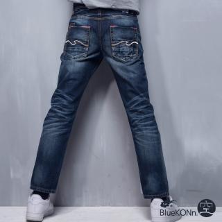 【BLUE WAY】布邊布低腰直筒褲_BlueKONn.