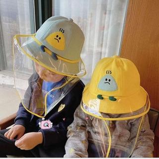 【HaNA 梨花】小孩款俏皮可愛款安全防護疫情防飛沫棒球帽防疫帽(防疫帽)