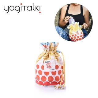 【yogiTalki】爵士.樂/紅樂曲 日本棉布 荷葉夾棉收納袋