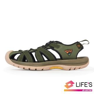 【LOTTO】男 冒險者 戶外健走運動涼鞋(綠-LT0AMS1925)