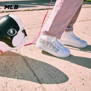 【MLB】CUP系列LOGO波士頓紅襪隊高筒透明鞋 休閒鞋(32SHP9011-43W)
